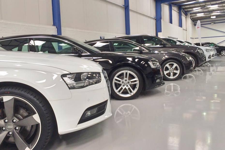 Car Showroom resin flooring - Automotive flooring - Monarch resin flooring UK