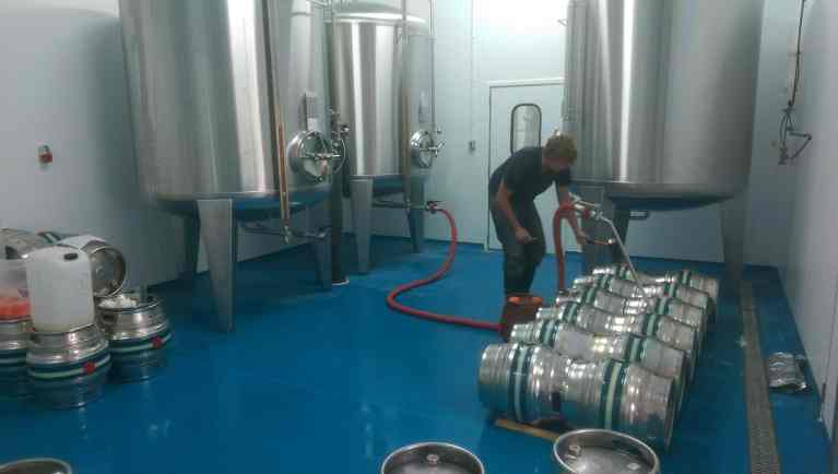 Peak Ales Brewery - Resin Brewery Flooring - Monarch Resin Flooring UK