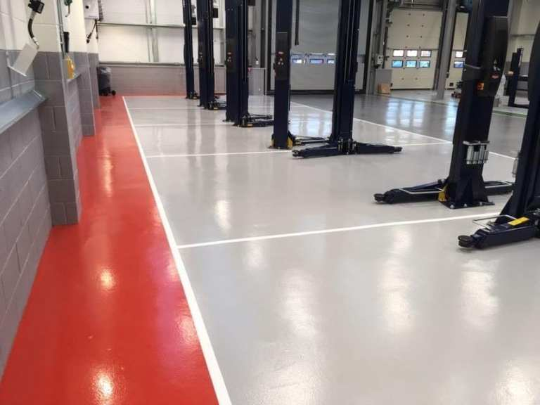 Workshop resin flooring