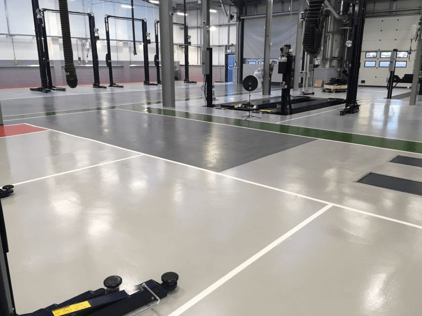 car workshop resin flooring