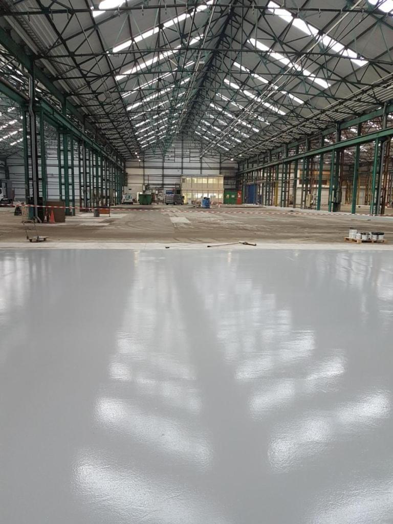 manufacturing flooring - epoxy resiin