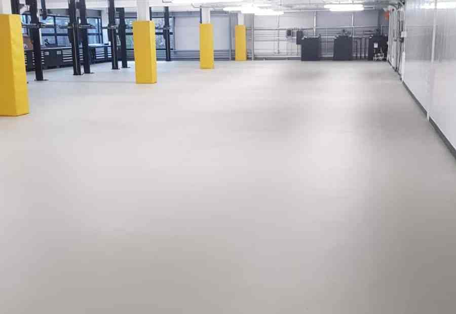 Workshop floor epoxy resin