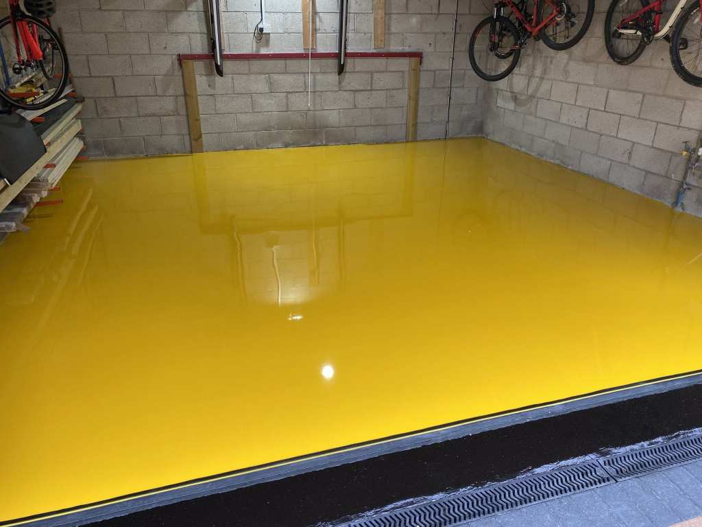 garage resin flooring yellow