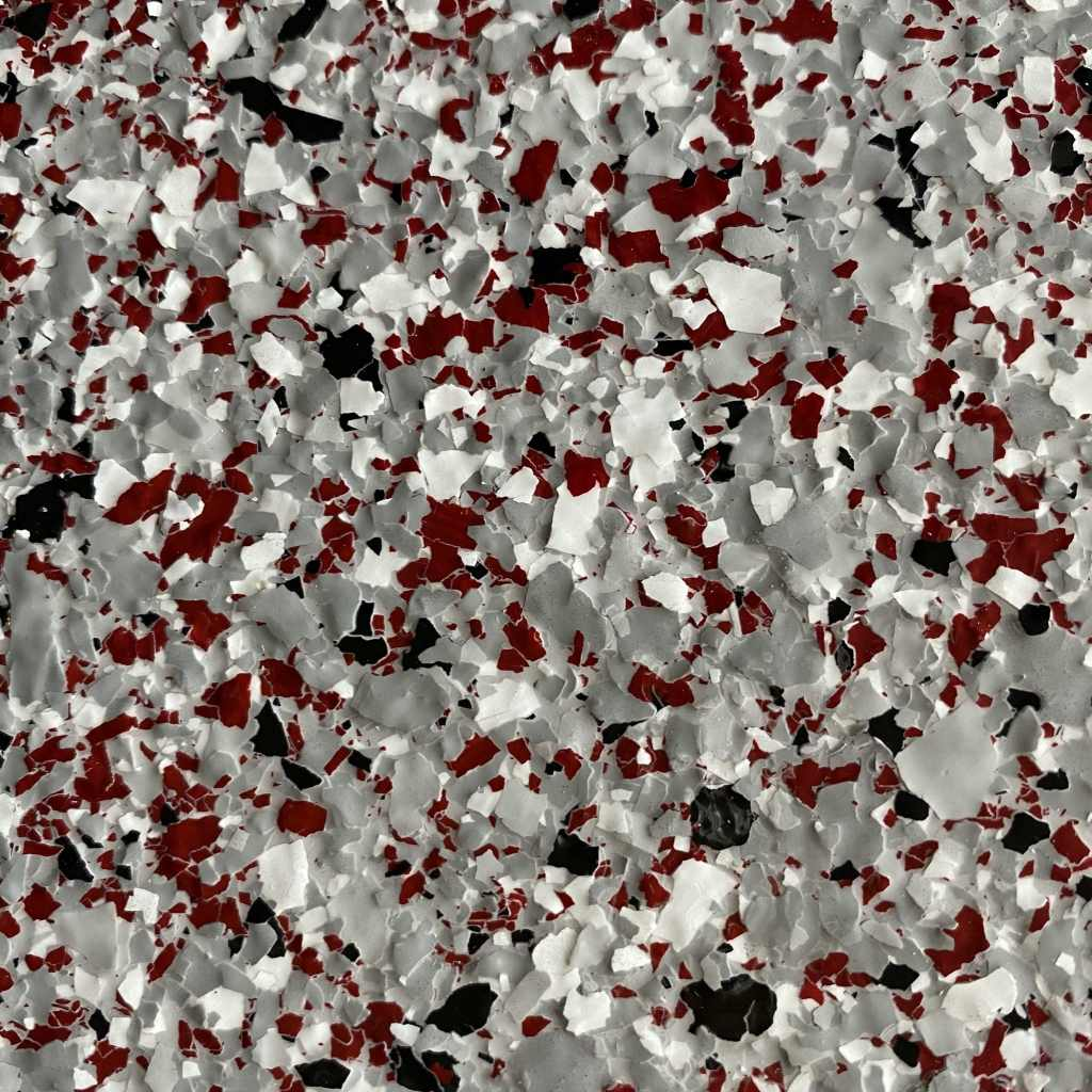 decorative resin flooring flake finish garnet blend