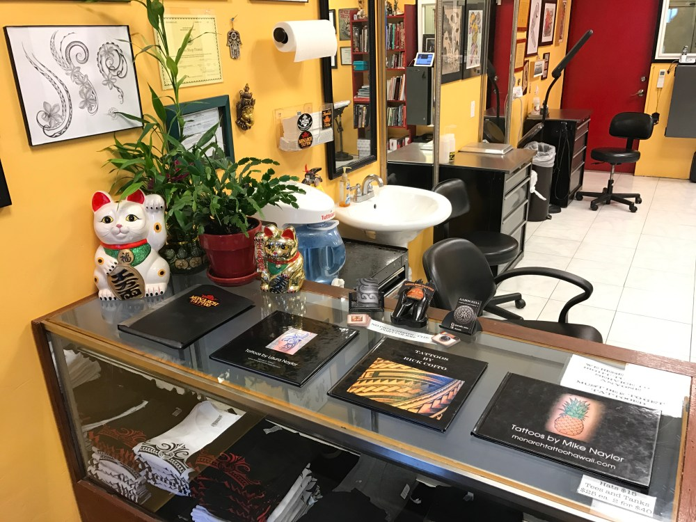 Tattoo Parlor Front Counter