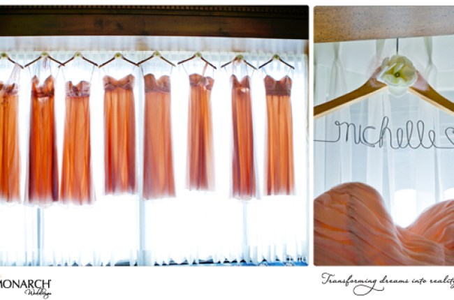 Blush-bridesmaids-dress-personalized-hanger-vintage-wedding