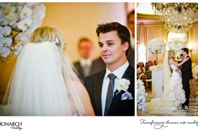Blush-french-vintage-wedding-crystal-chandelier-westgate-hotel