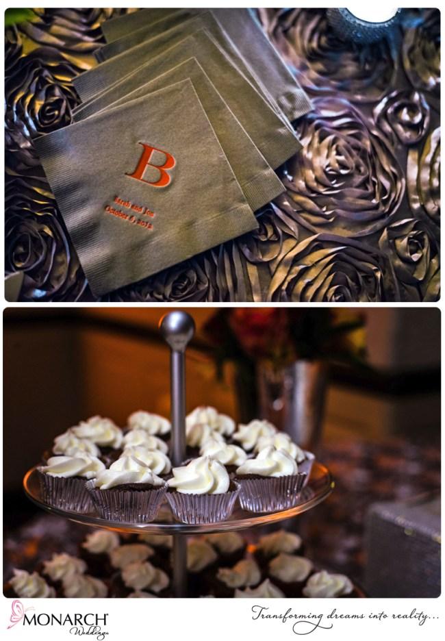 admiral-kidd-club-orange-gray-wedding-gray-rosette-linen-custom-cocktail-napkins