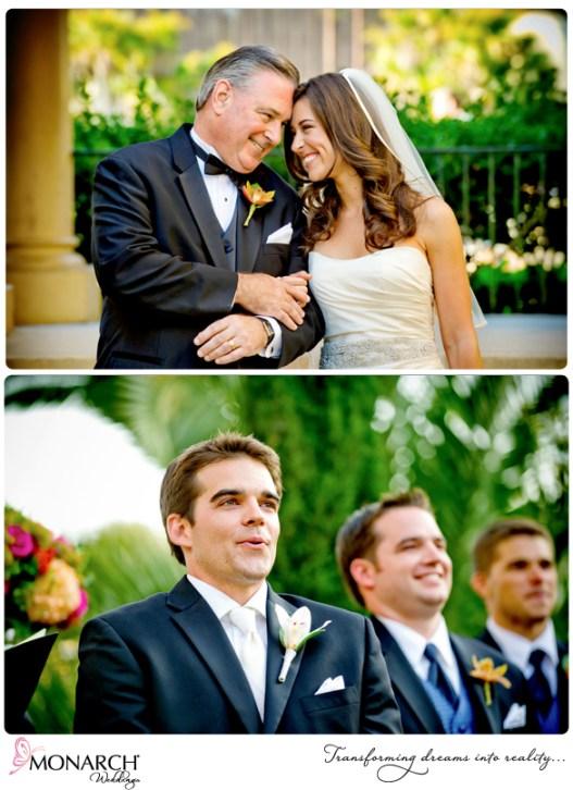 Prado-Balboa-Park-Coral-Pink-Tropical-Wedding-Ceremony