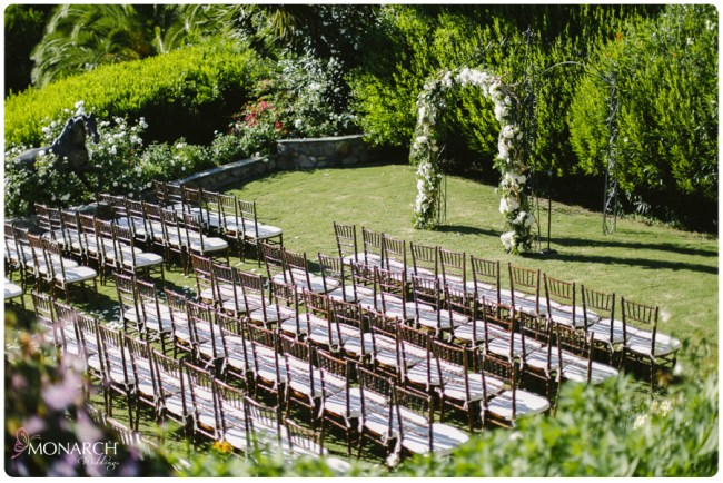 Garden-Chic-Rustic-Wedding-Arbor-Fruitwood-Chiavari-Chairs