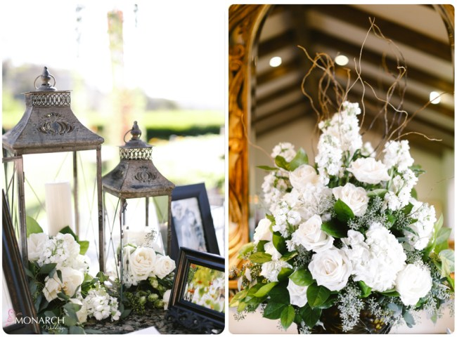 Garden-Chic-Rustic-Wedding-Lanterns-Welcome-Guest-book-table