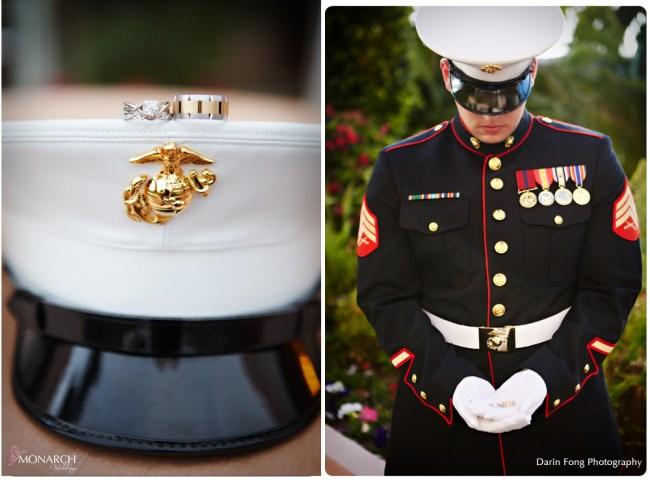 Marine-dress-blues-hat-ring-shot-la-valencia-wedding