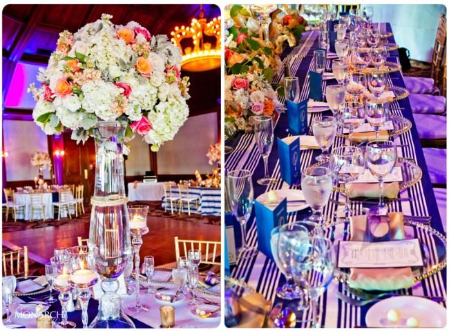 Head-table-love-knot-centerpiece-Nautical-theme-wedding-hotel-del-coronado