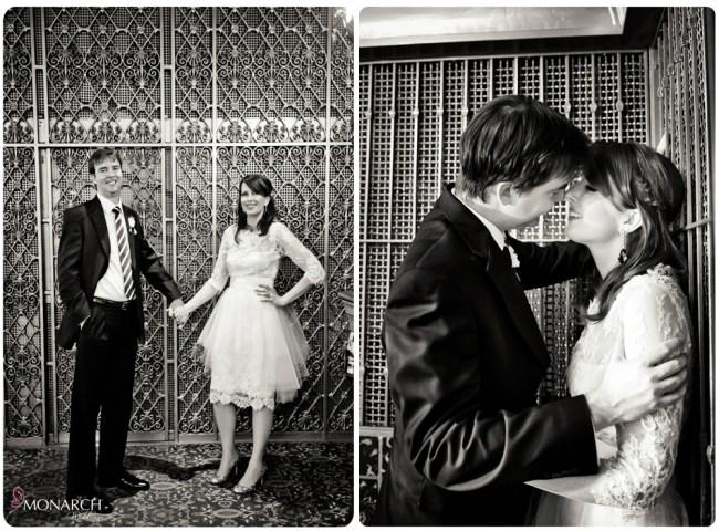 Bride-groom-elevator-photo-nautical-theme-wedding-hotel-del-coronado
