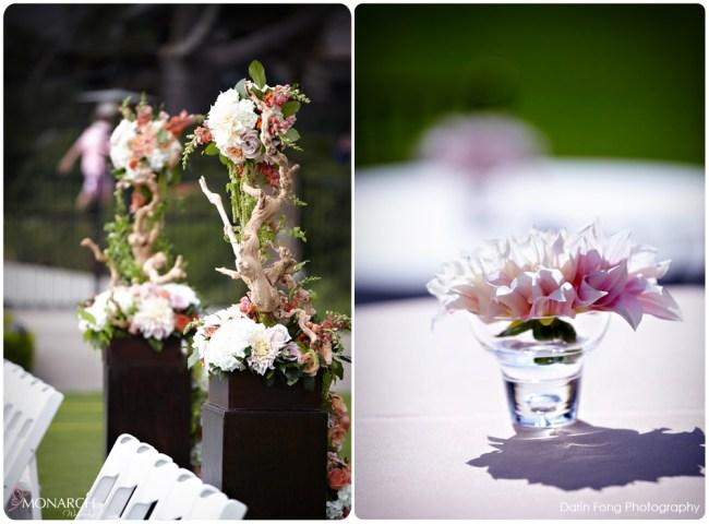 Lodge-at-Torrey-pines-wedding-rustic-Café-au-lait-dahlia