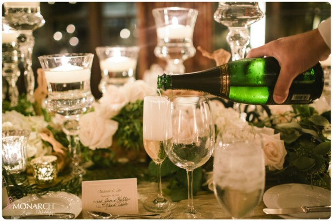 Rustic-garden-chic-wedding-champagne-pour