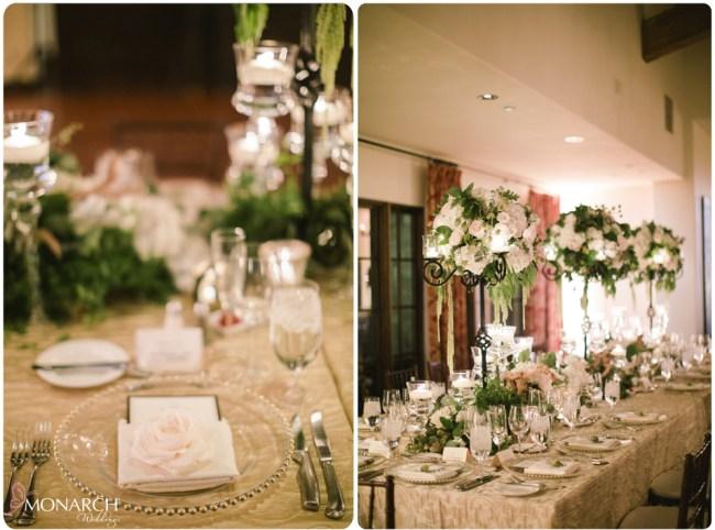 Rustic-garden-chic-wedding-Family-style-table-rancho-santa-fe-golf-club
