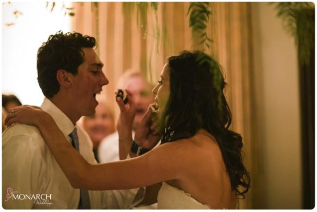 Rustic-garden-chic-wedding-cake-table-garden-floral-chandelier-Cake-cutting
