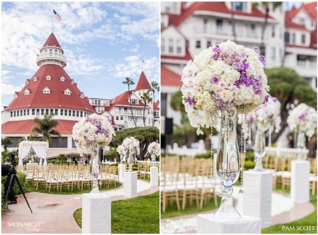Glamorous-ivory-gold-lavendar-ceremony-vista-walk-at-hotel-del-coronado-wedding