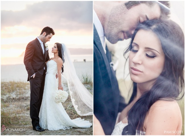 bride-groom-portraits-beach-under-veil-hotel-del-coronado-wedding