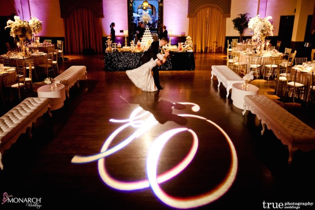 Prado-at-Balboa-Park-wedding-gobo-dancefloor-white-lounge-pieces