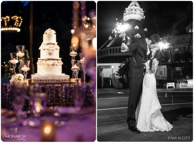 wedding-sparklers-wedding-cake-hotel-del-wedding-san-diego-wedding-planner