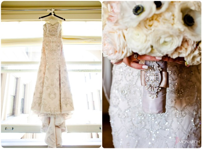 Blush-beaded-wedding-dress-bridal-bouquet-anenome-san-diego-wedding-planner