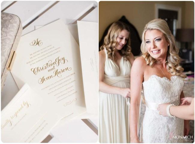 Gold-foil-Invitation-bride-lace-wedding-dress-hotel-del-coronado-weddng