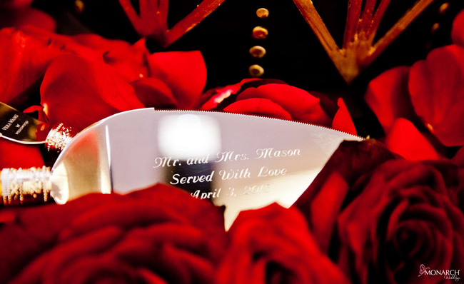 Custom-cake-knife-and-server-red-roses-wedding