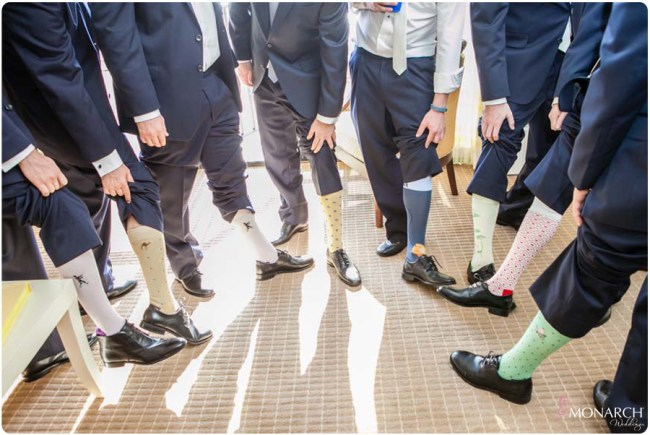 Fun-groomsmen-socks-hotel-del-coronado-wedding
