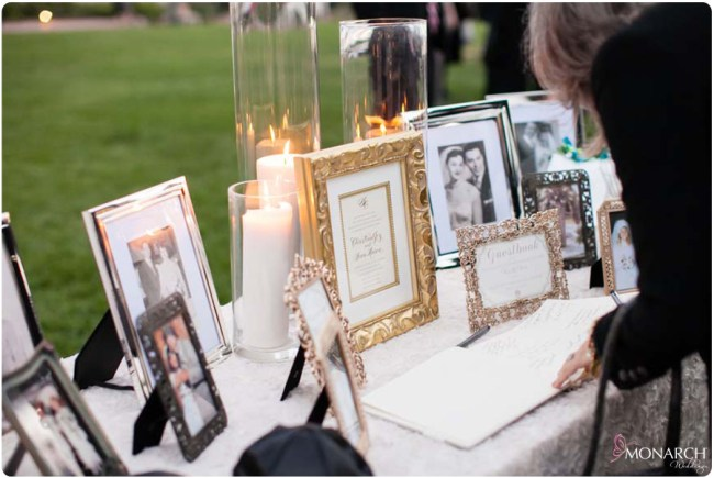 Gift-table-picture-frames-guest-book-hotel-del-wedding