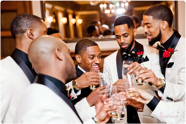 Groom-Groomsmen-toast-white-tux-jacket-us-grant