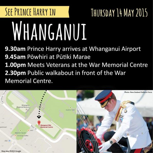Prince Harry in New Zealand - Whanganui