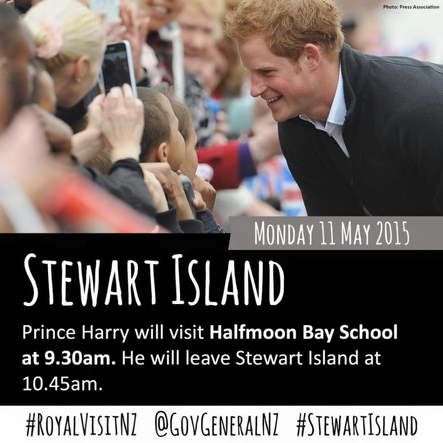 Prince Harry in New Zealand - Stewart Island