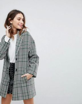 manteau carreaux stradivarius