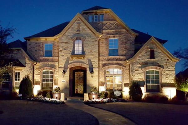 Exterior Home Uplighting