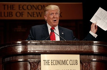 Donald Trump Lays Out Economic Plan in New York