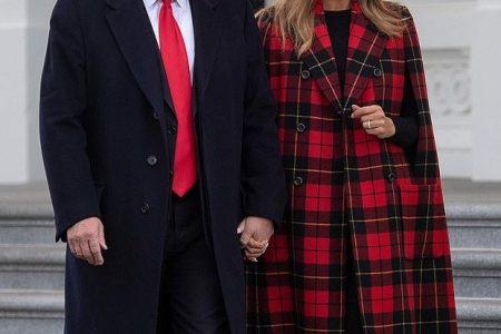What Melania Wore Welcoming White House Christmas Tree