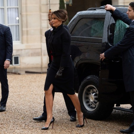 What Melania Wore to the Elysee Presidential Palace