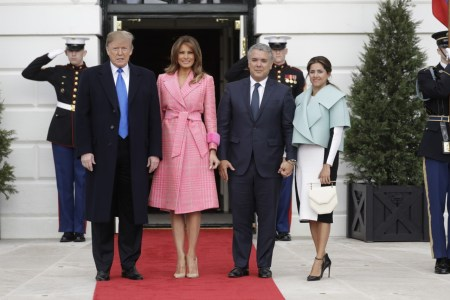 What Melania Wore Welcoming Colombia President To The White House