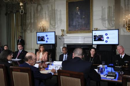 What Melania Wore Holding Cabinet Meeting