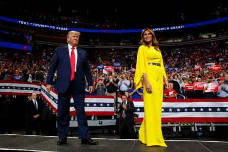 What Melania Wore to President Trump 2020 Kickoff Rally