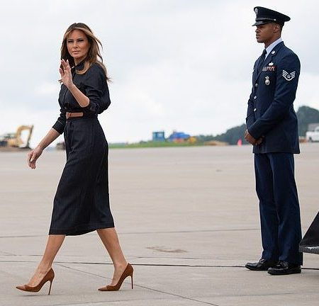 What Melania Wore Traveling To West Virginia for Be Best Campaign
