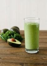 Avocado Kale Superfood Smoothie   www.kitchenconfidante.com