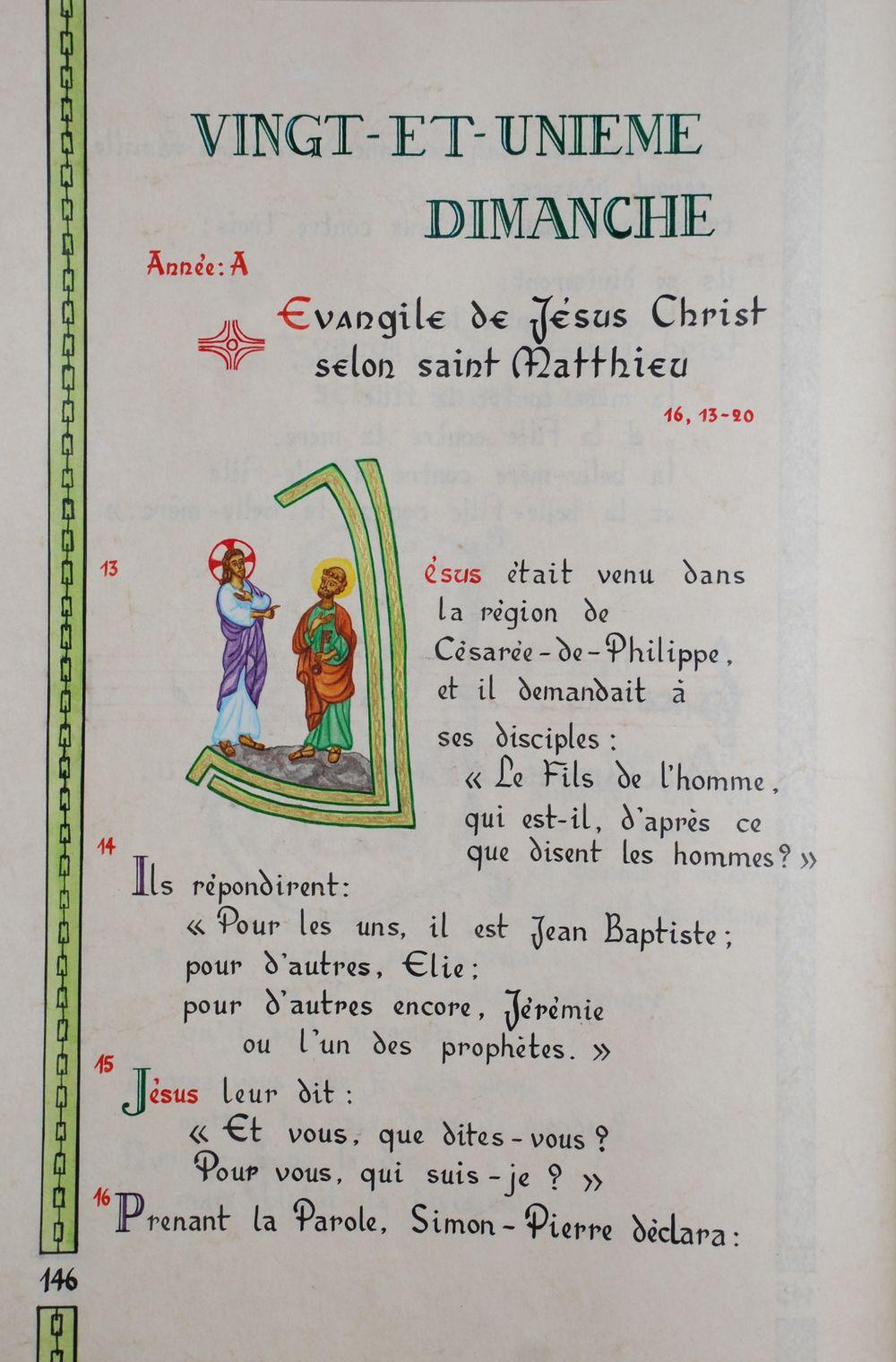 Pour Vous Qui Suis-je : suis-je, Dimanche, Ordinaire, Monastère, Géronde