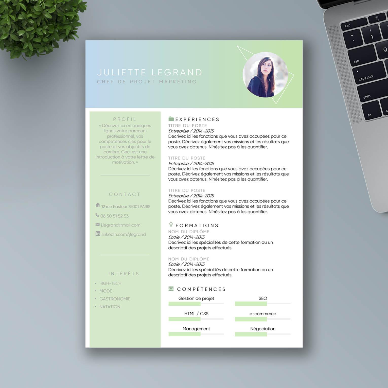 Exemple de CV Word à Télécharger et Personnaliser | Mon ...