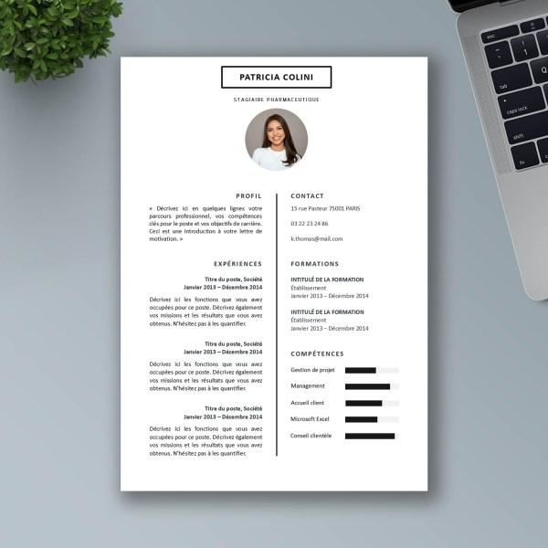 exemple de CV simple a telecharger