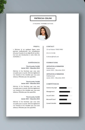 exemple de CV simple a telecharger