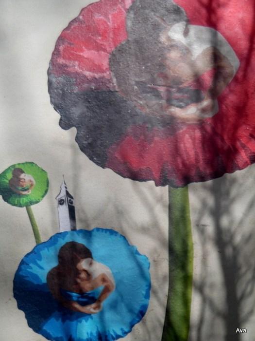 street art fleurs danse