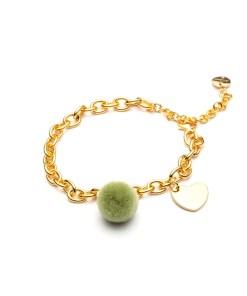 bracciale_pomstar verde oro le carose